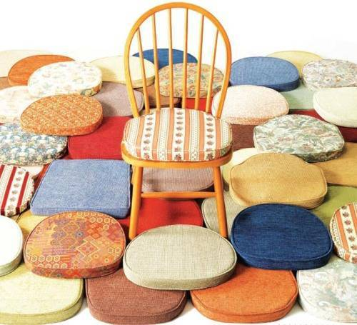 Kitchen chair cushions photo - 2