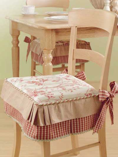 Kitchen chair seat cushions photo - 3