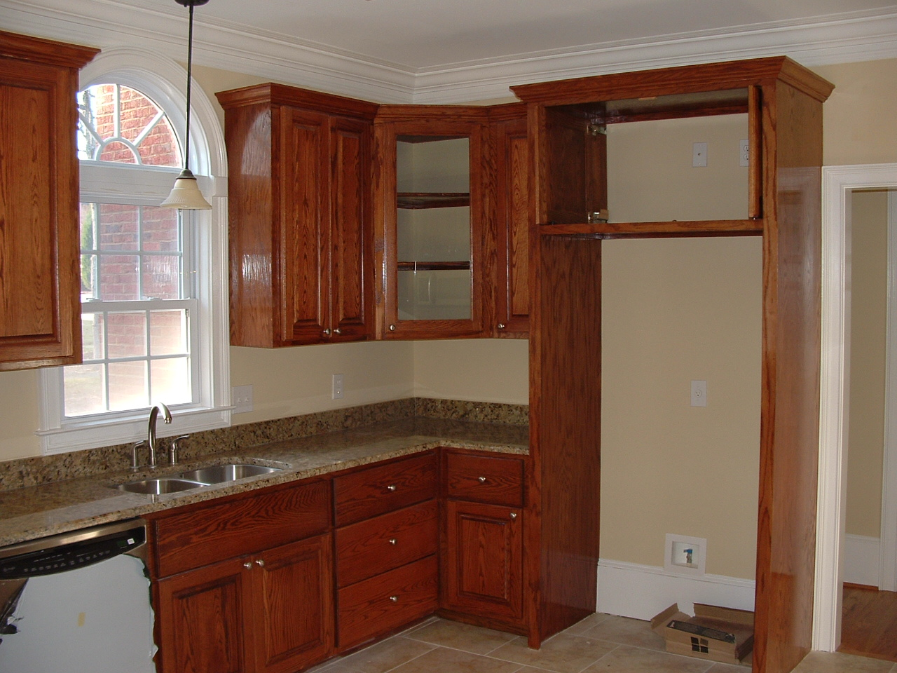 Kitchen corner pantry cabinet kitchen ideas for Built in kitchen cupboards for a small kitchen