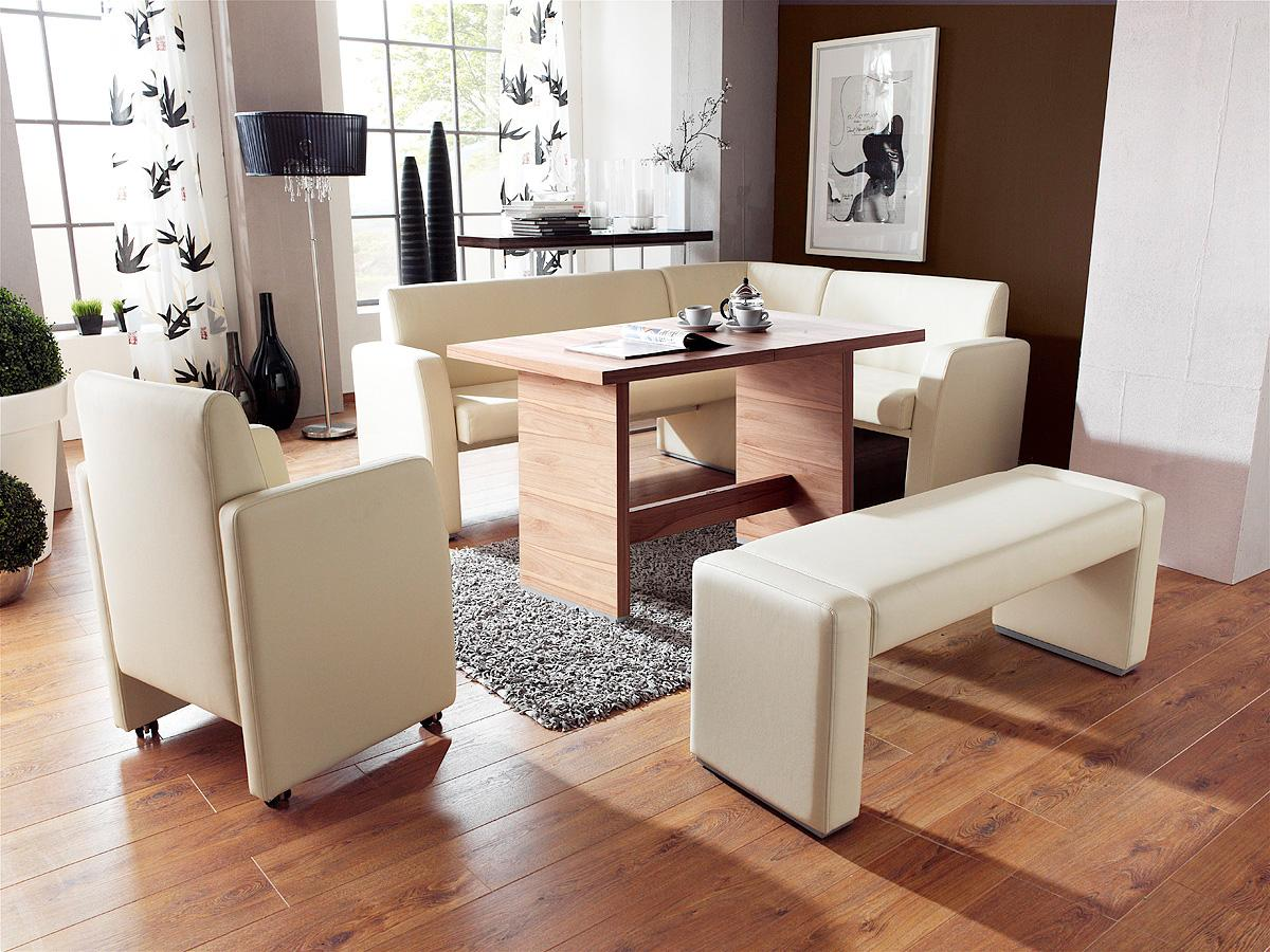 Kitchen corner table with bench photo - 1