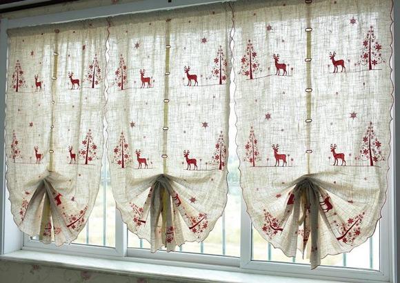 Kitchen curtain panels photo - 2