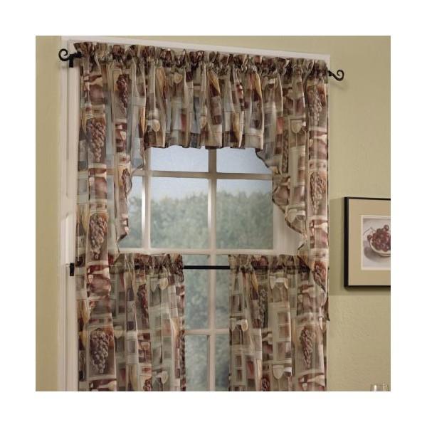 Kitchen curtain tiers photo - 1
