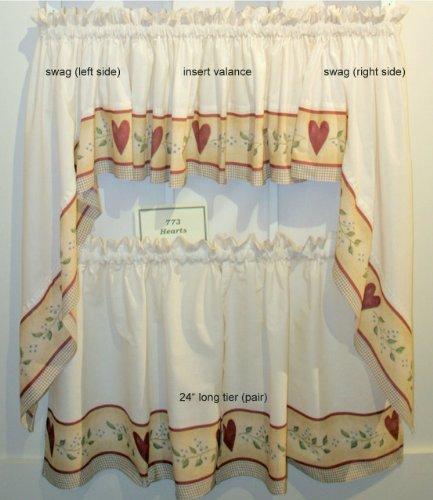 Kitchen curtain tiers photo - 3