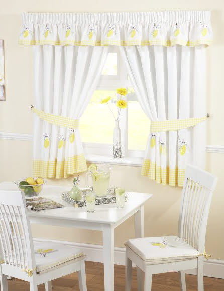 Kitchen curtains and valances photo - 2