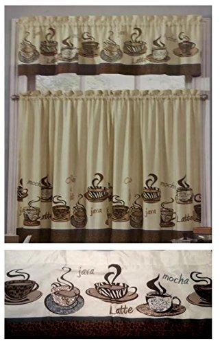 Kitchen curtains coffee theme photo - 3