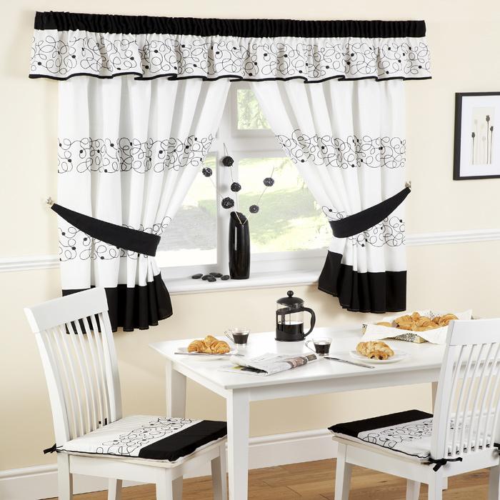 Kitchen curtains white photo - 1