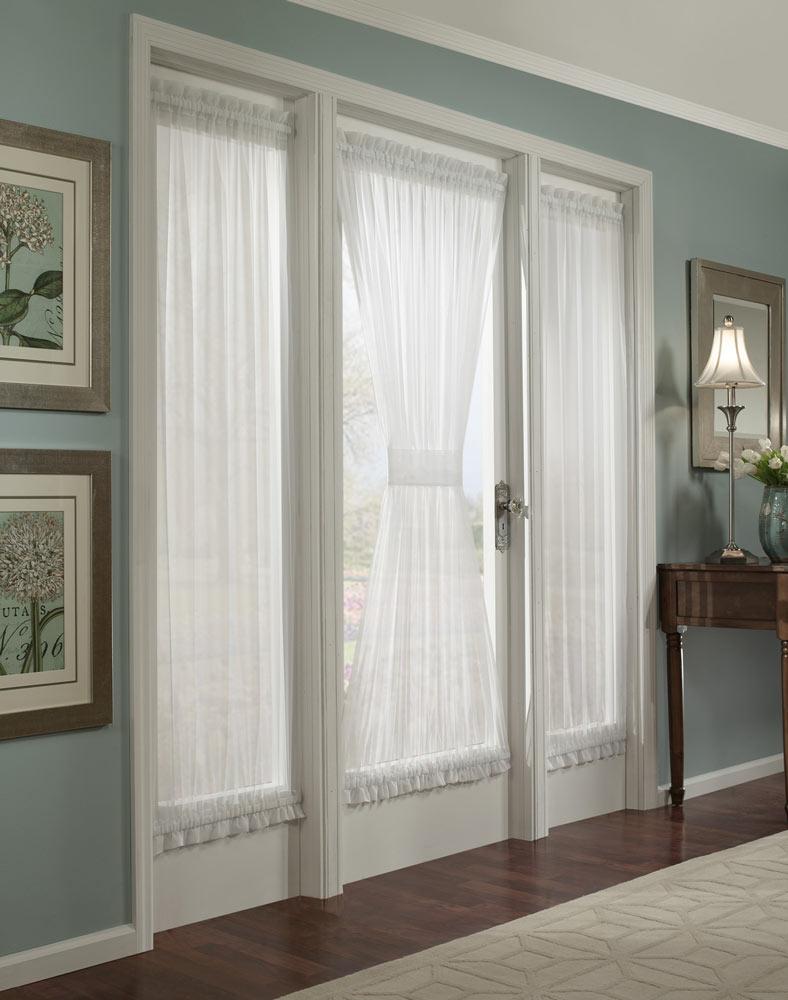 Kitchen door curtains photo - 1