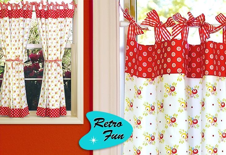 Kitchen door curtains photo - 2