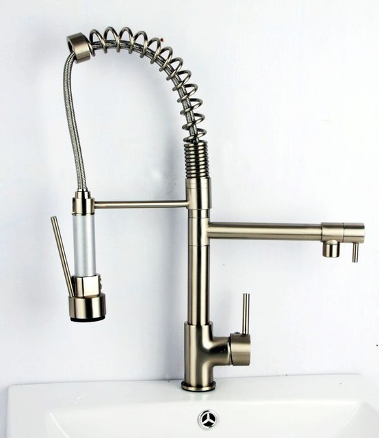 Kitchen faucets pull out spray photo - 2