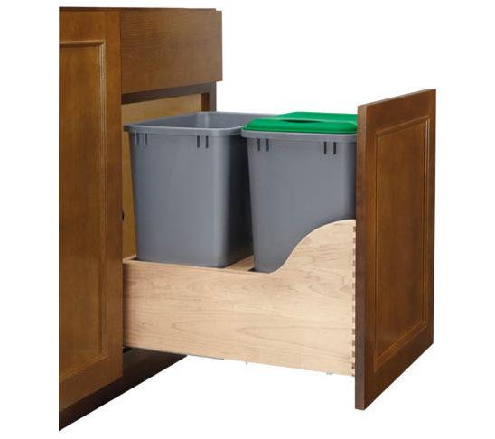 Kitchen garbage can storage photo - 3