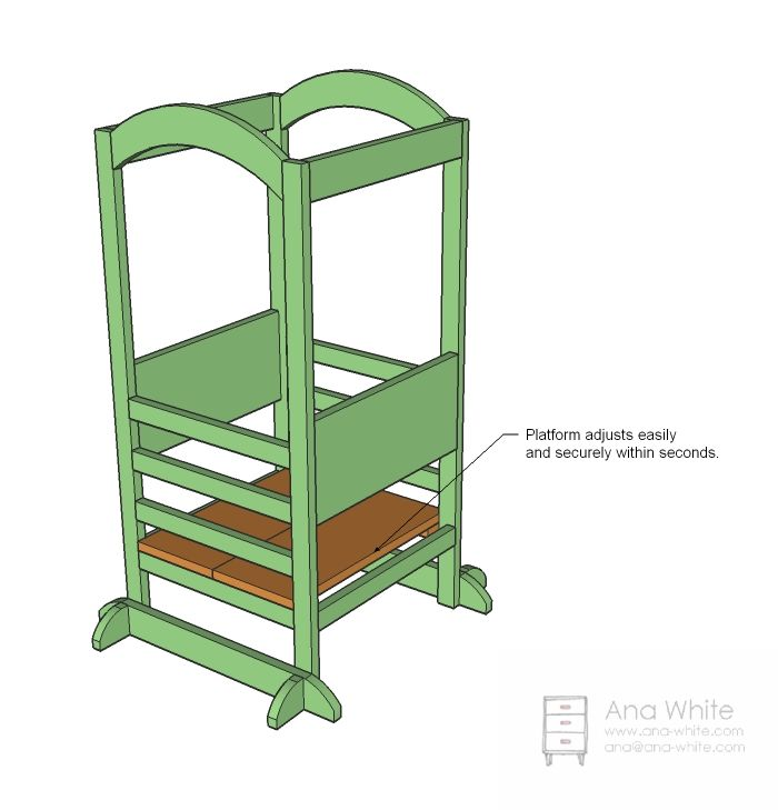 Kitchen helper stool for toddlers photo - 1
