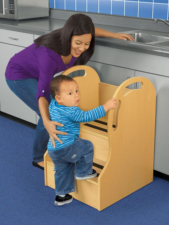 Kitchen helper stool for toddlers photo - 2