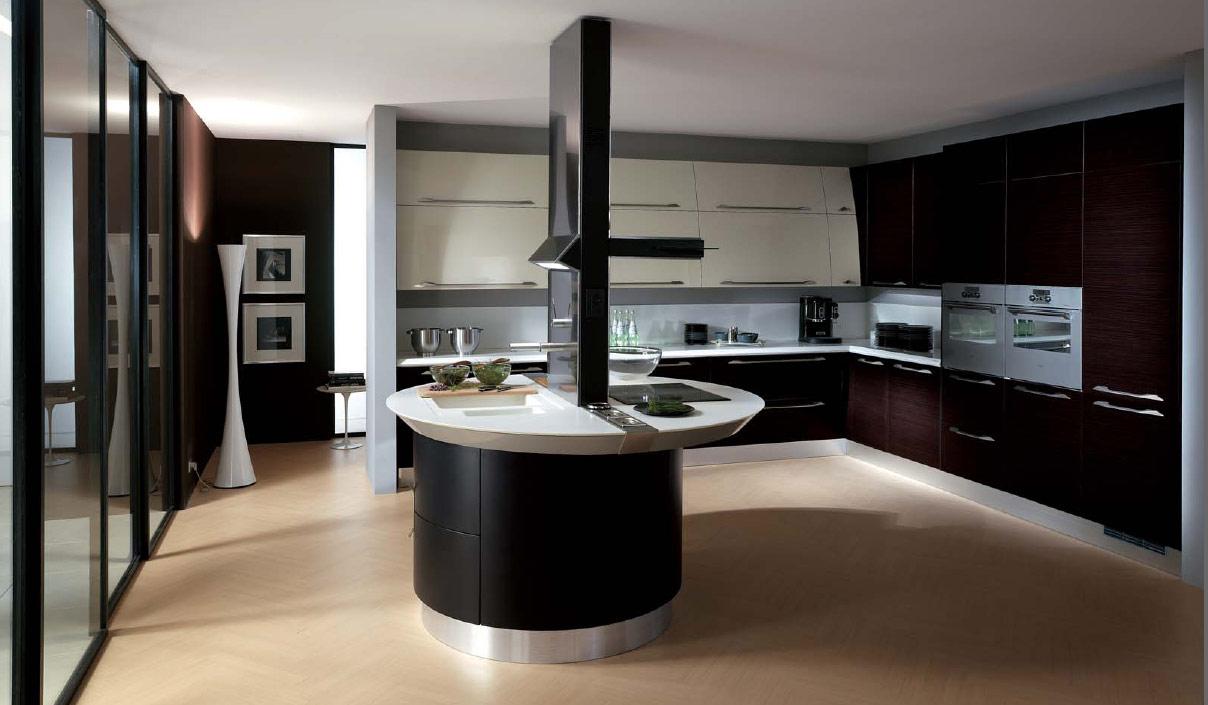 Kitchen island black photo - 2
