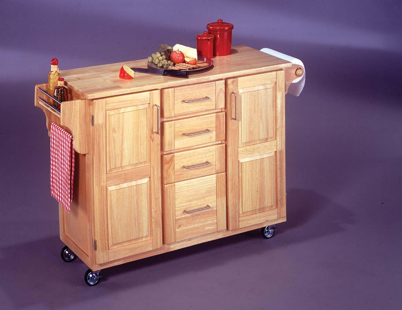 Kitchen island cart with breakfast bar photo - 3