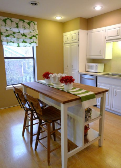 Kitchen island cart with seating photo - 2