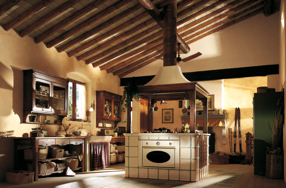 Kitchen island country photo - 2