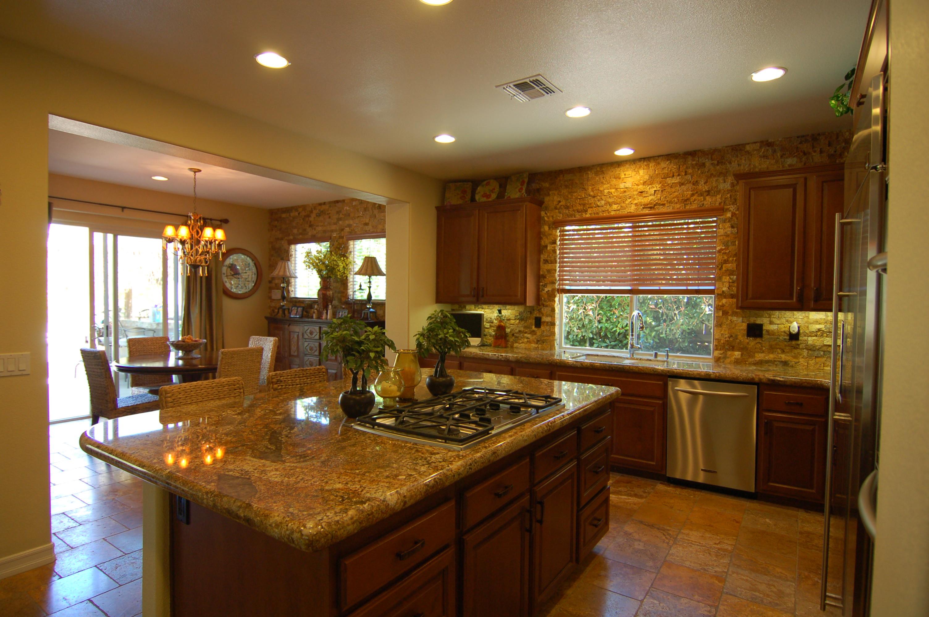Kitchen island granite photo - 1
