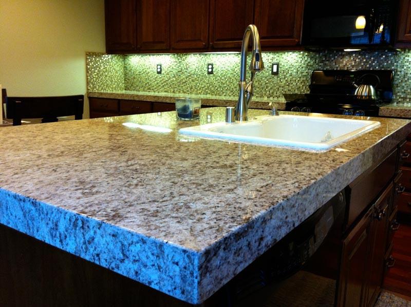 Kitchen island granite photo - 2