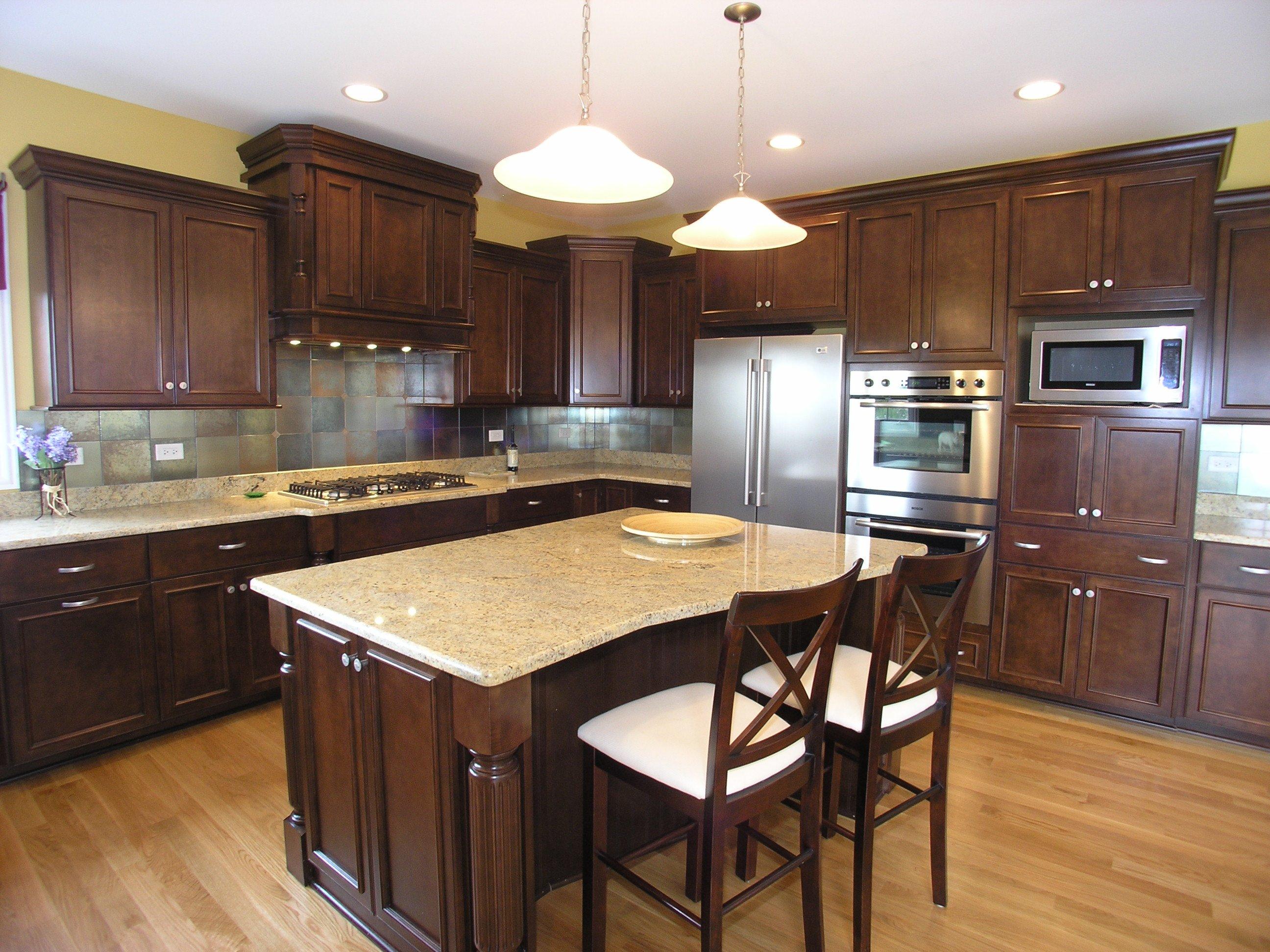 Kitchen island granite photo - 3