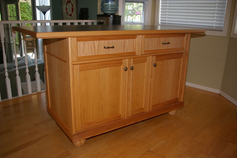 Kitchen island oak photo - 3