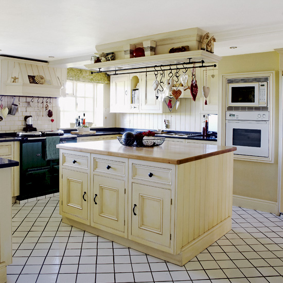 Kitchen island pot rack photo - 3