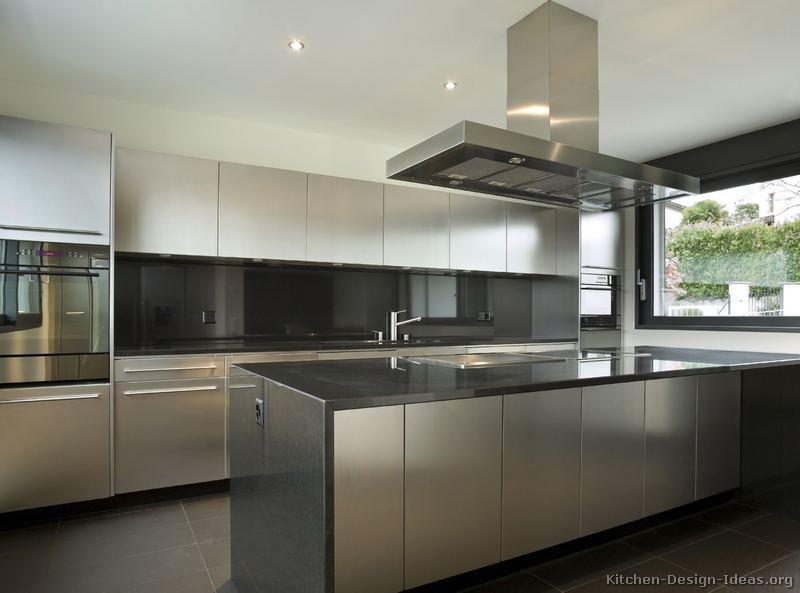 Kitchen island stainless steel photo - 3