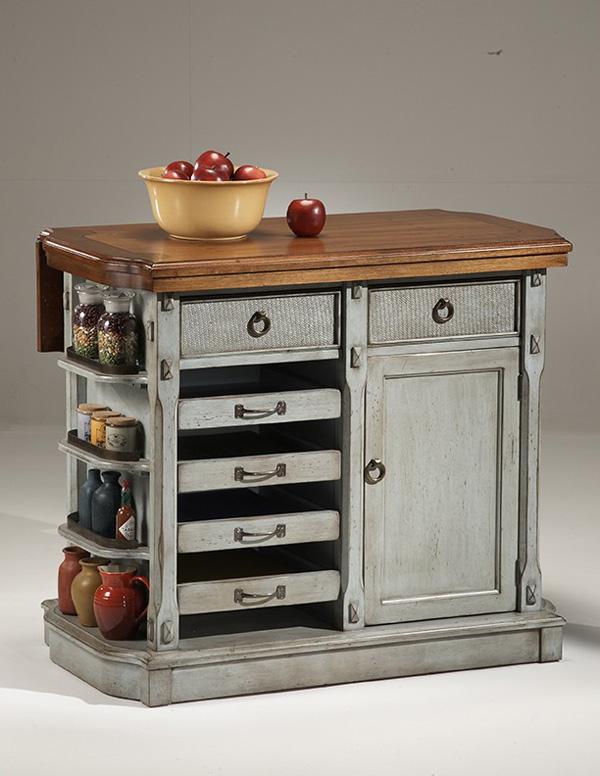 Kitchen island table with storage photo - 3