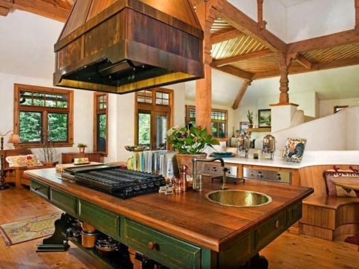 Kitchen island with butcher block photo - 2