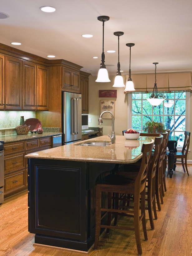 kitchen island with stools photo 2 - Island Ideas For Kitchens