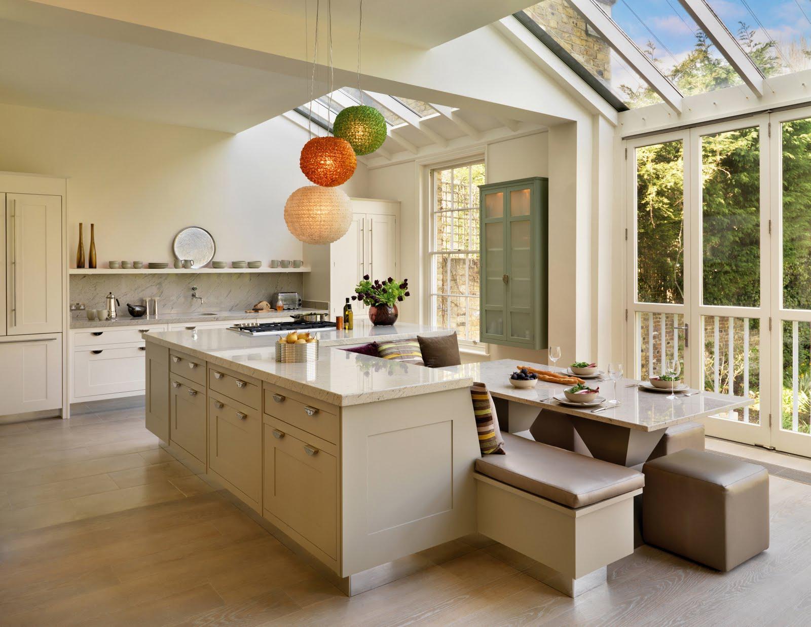 Kitchen island with wine rack photo - 2