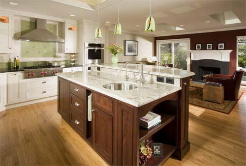 Kitchen island with wine storage photo - 2