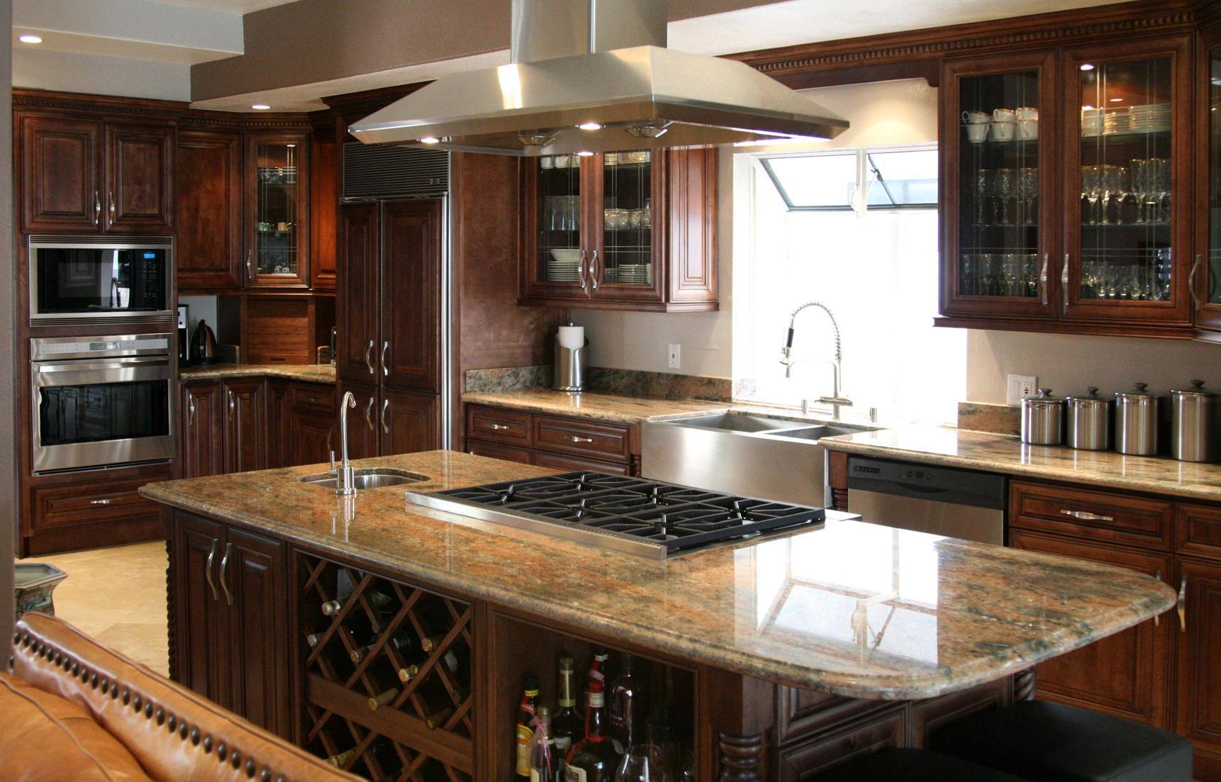 Kitchen island with wine storage photo - 3