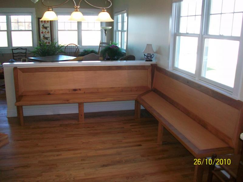 Kitchen nook storage bench photo - 3