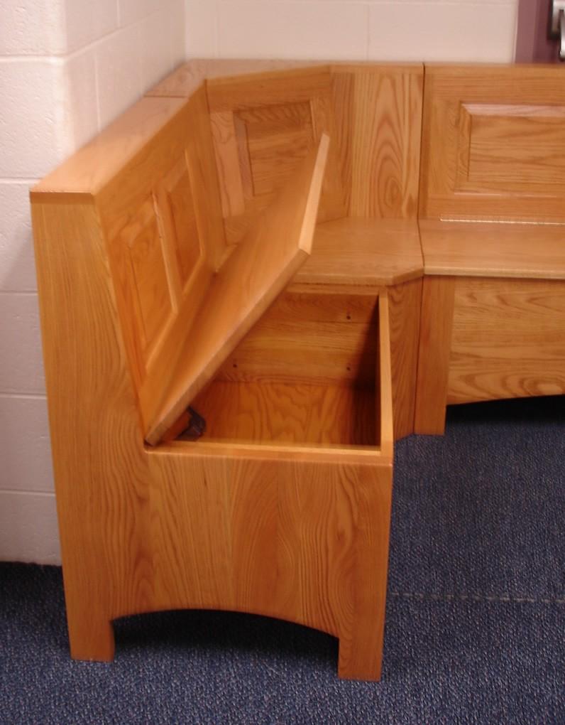 Kitchen nook with storage photo - 2