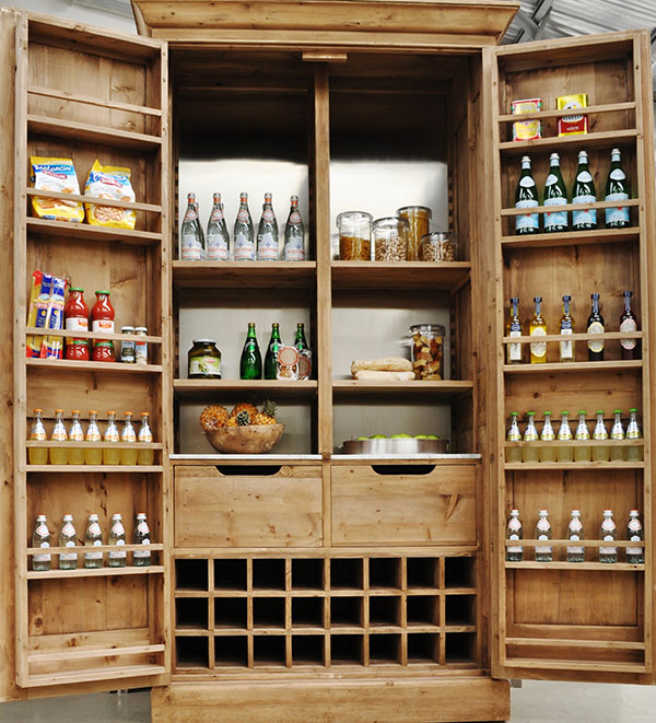 Kitchen pantry cabinet freestanding photo - 2