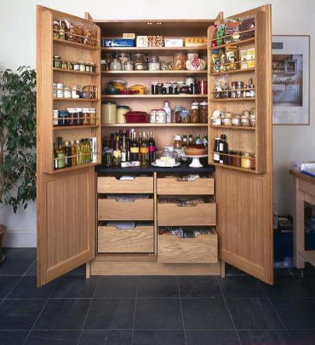 Kitchen pantry cabinet with pull out shelves photo - 2