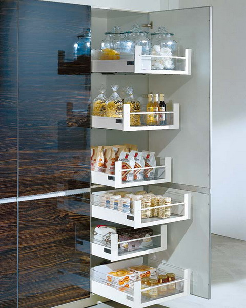 Kitchen pantry cabinet with pull out shelves photo - 3