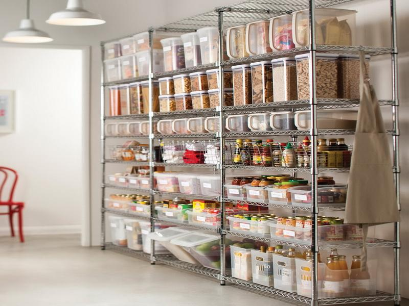 Pantry storage systems best storage design 2017 for Best pantry shelving system