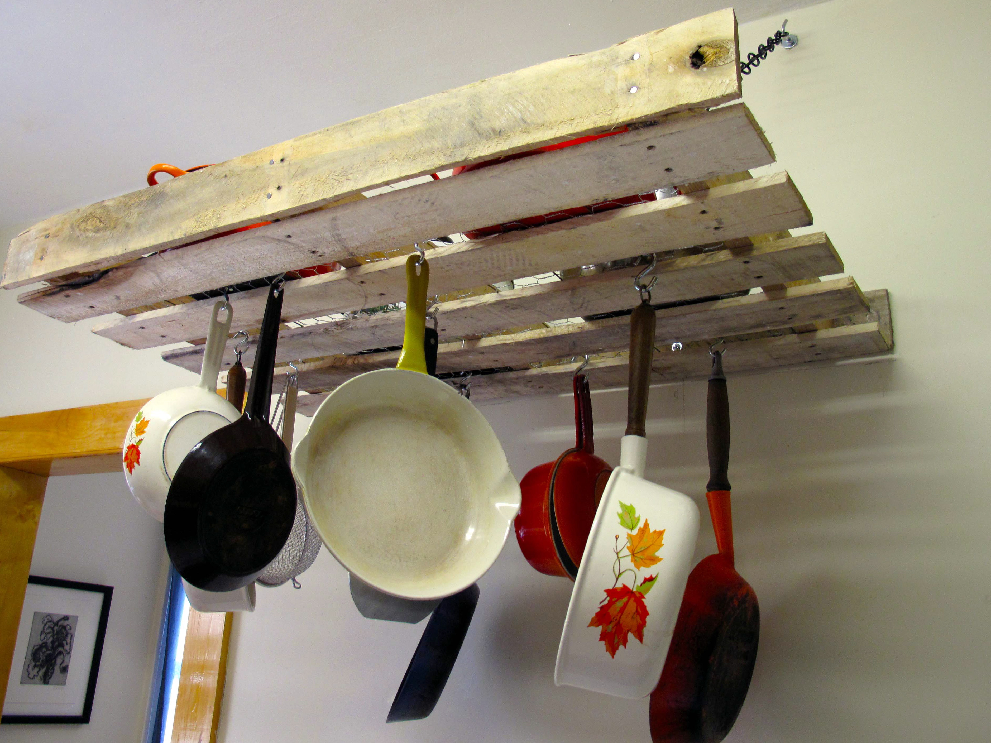quick view more options finish a wall mounted pot rack kitchen, Kitchen design
