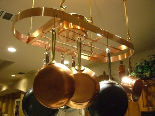Kitchen pot racks wall mounted photo - 3