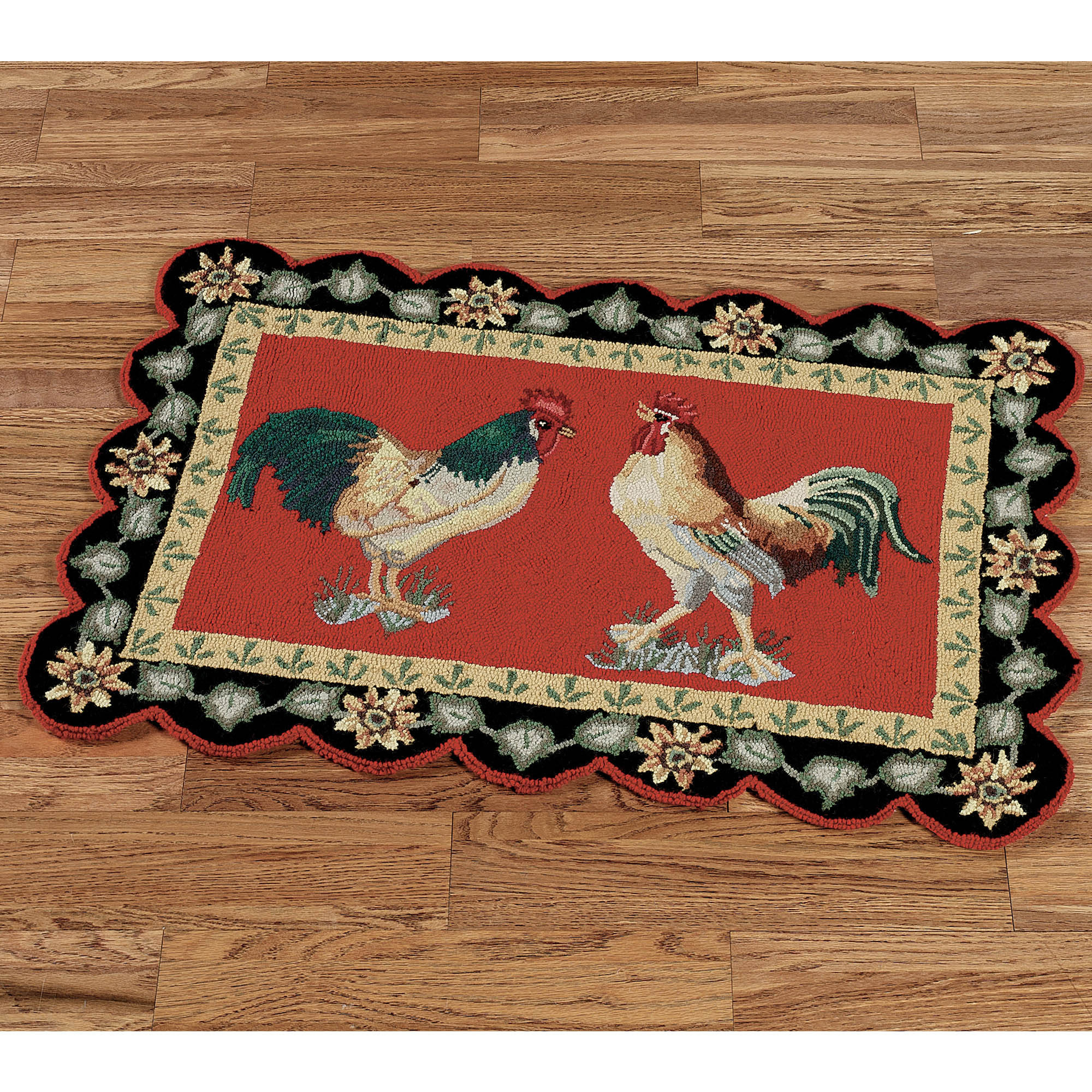 Kitchen rugs with roosters photo - 2