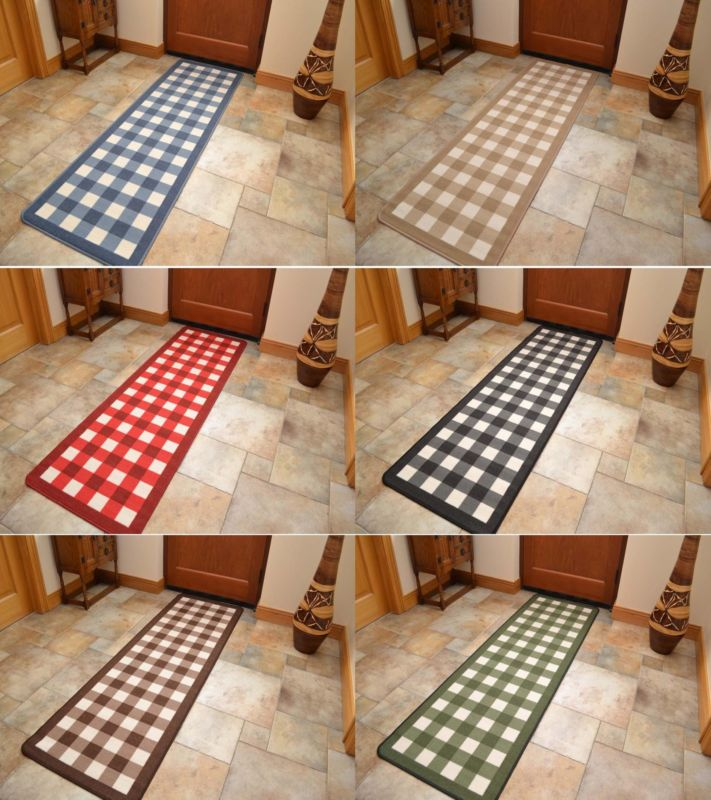 Kitchen rugs with rubber backing photo - 3