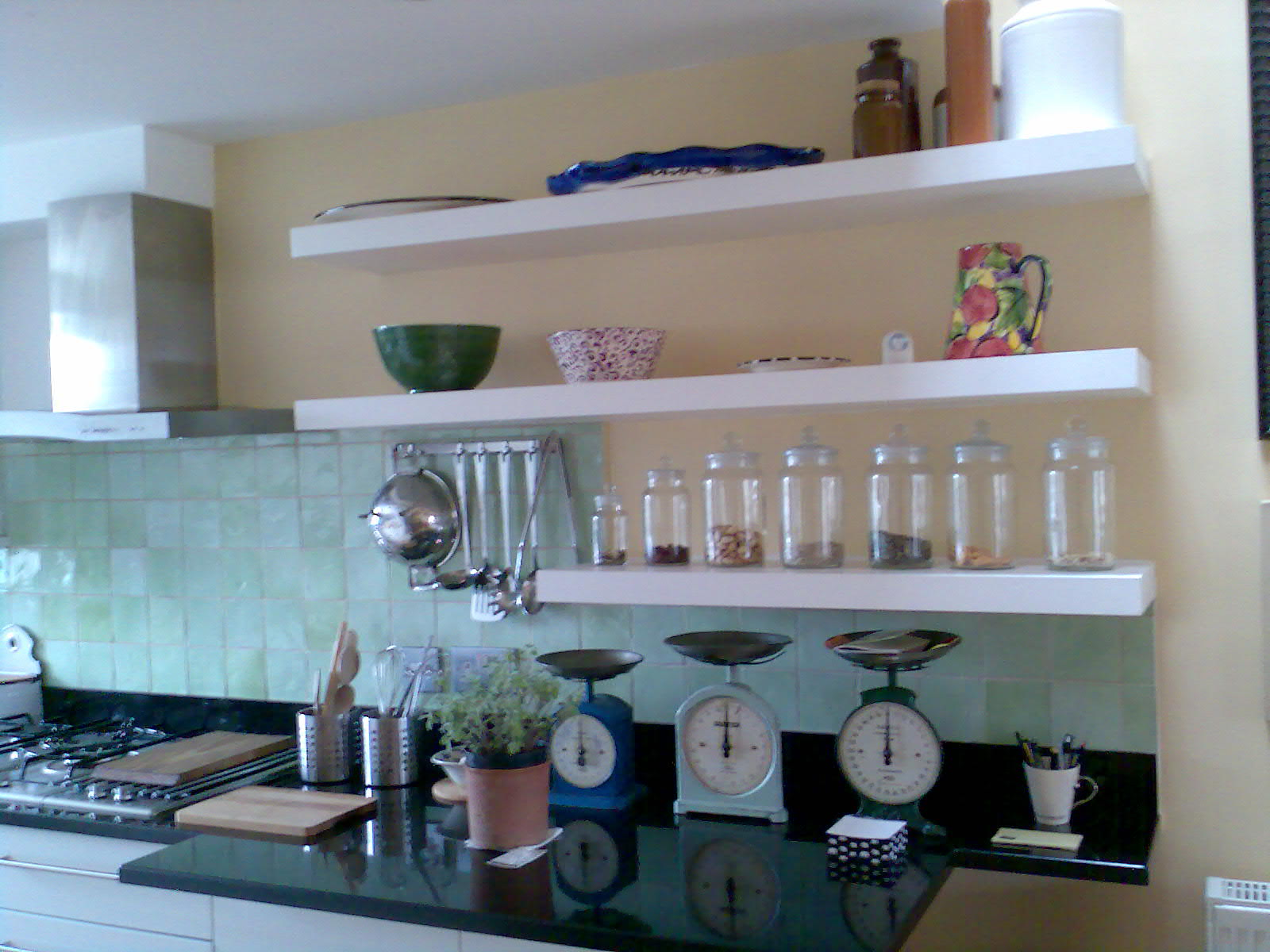 10 photos to kitchen shelves wall mounted
