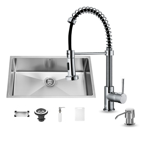 Kitchen sink and faucet sets photo - 1