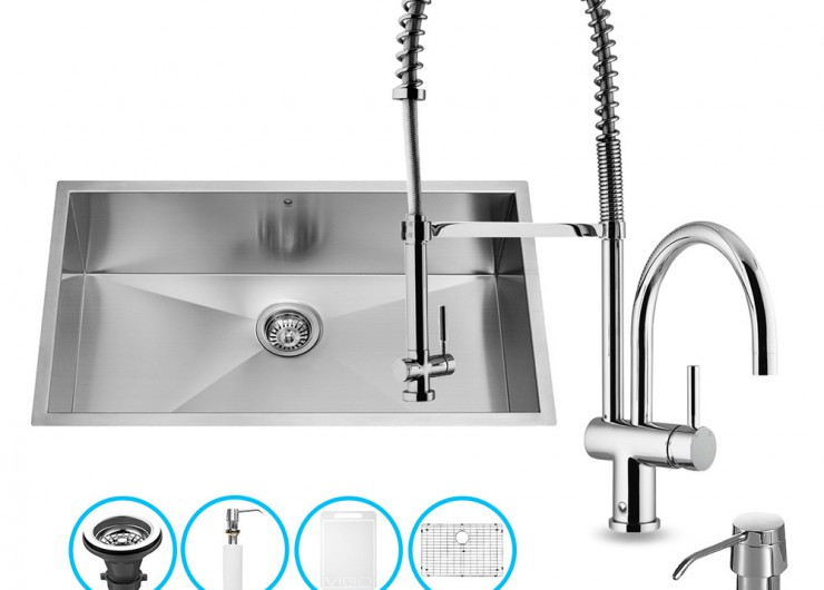Kitchen sink and faucet sets photo - 2