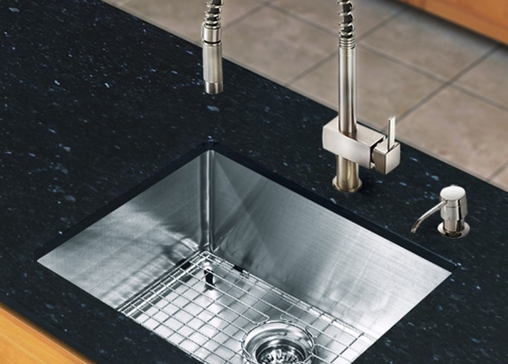 Kitchen sink and faucet sets photo - 3