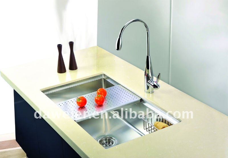 Kitchen sink with drain board photo - 1
