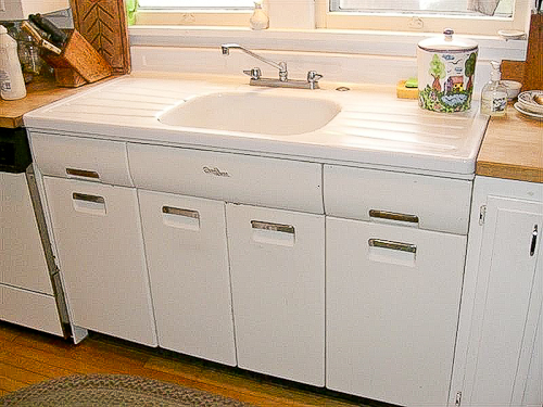 Kitchen sink with drain board photo - 2