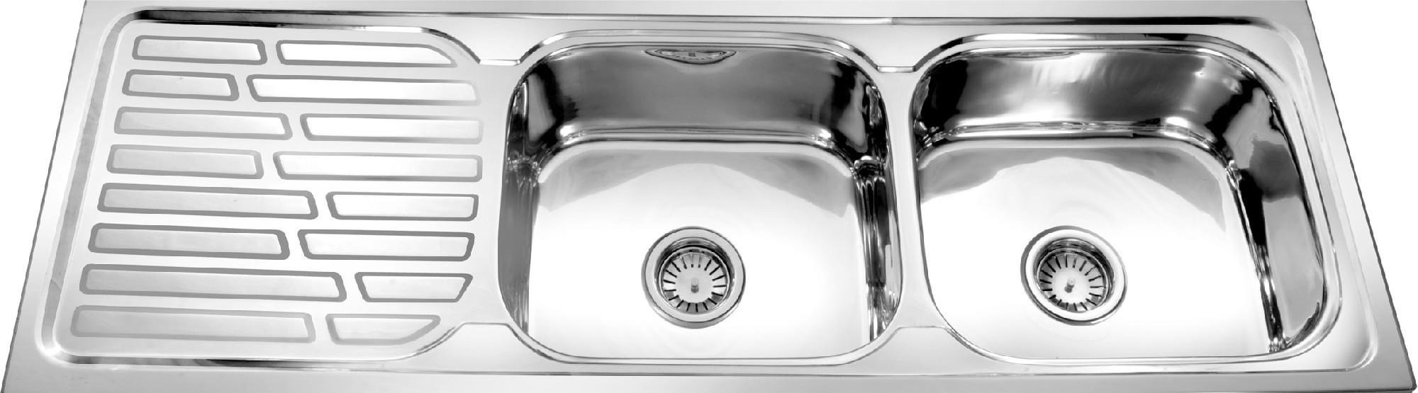 Kitchen sink with drain board photo - 3