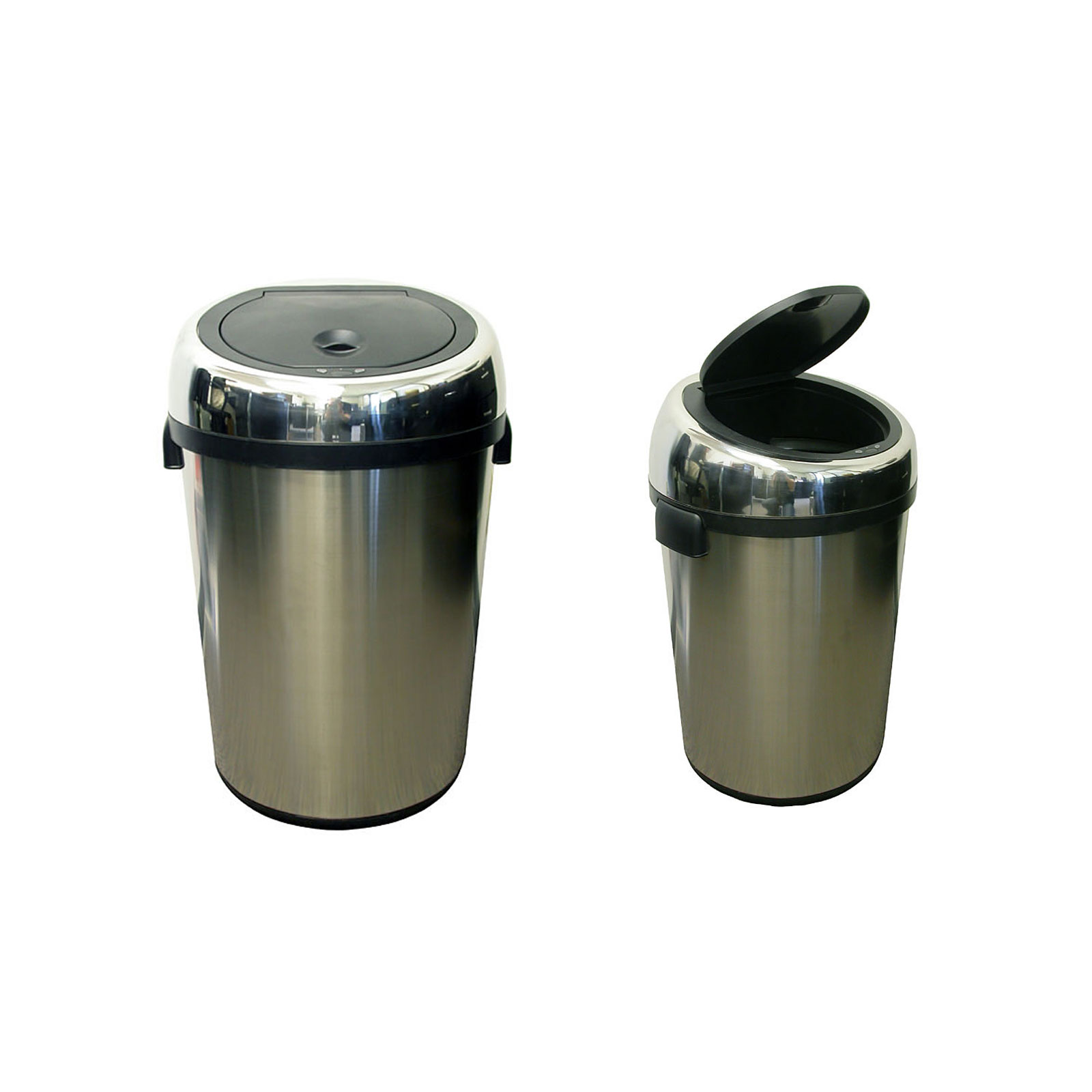 Kitchen stainless steel trash can photo - 2